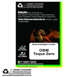Papel OBM Toque Zero A4 pct c/ 5 folhas