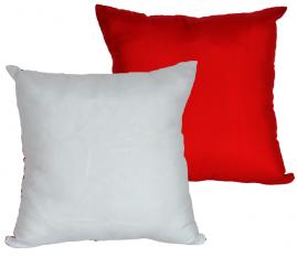 Capa de Almofada para Sublimação 30X30 Branca e Vermelha