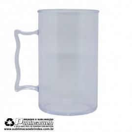 Caneca Plastica Transparente de Chopp 400 ml Para Silk e Transfer a Laser