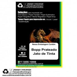 Adesivo A4 De Bopp Prateado para Jato De Tinta c/ 100 Folhas