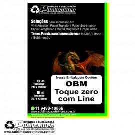 Papel OBM Toque Zero A4 com Liner pct c/ 5 folhas