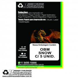 Papel OBM Snow Aveludado A4 pct c/ 5 folhas