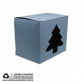Caixa para Canecas Quadrada com Janela em forma de natal c/ 10 Unidades