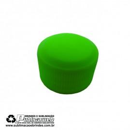 Tampa Tubete Verde PE com Rosca 28mm