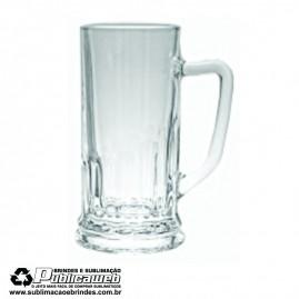 Caneca de Vidro Transparente para Sublimação de 500 ml