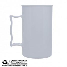 Caneca Plastica Branca de Chopp 400 ml Para Silk e Transfer a Laser