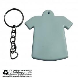 Chaveiro tipo Camiseta de Plástico Sublimatico - 1 Unidade