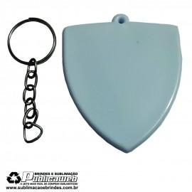 Chaveiro tipo escudo de Plástico Sublimatico - 1 Unidade