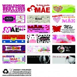 500 Artes Prontas para Sublimação de Canecas Dia Das Mães
