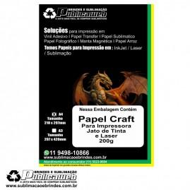 Papel Craft Adesivado 200 Gramas com 100 Folhas