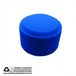 Tampa Tubete Azul PE com Rosca 28mm