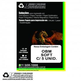 Papel OBM Soft Fosco A4 pct c/ 5 folhas