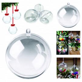Bolinhas De Natal Para Personalizar Cristal C/ 10 Unid.