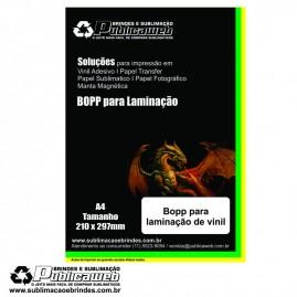 Adesivo para Laminação de Vinil Jato de Tinta A4 C/ 100 Folhas