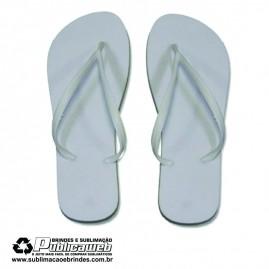 Chinelo Sublimatico Branco Tamanhos 35/36 C/ Tira Slim