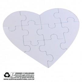 Quebra Cabeça em formato de Coração com 10 peças