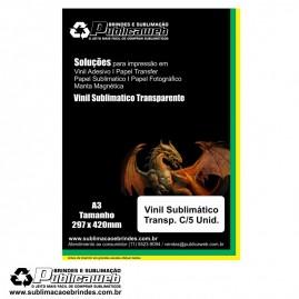 Adesivo Vinil Transp. Sublimatico Para Brindes A3 C/ 5 Unid.