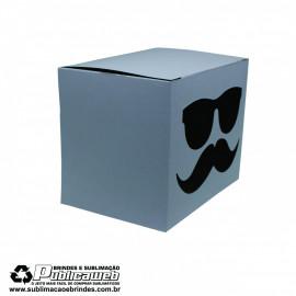 Caixa para Canecas Quadrada com Janela em forma de oculos c/ 10 Unidades