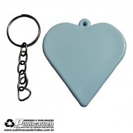 Chaveiro tipo escudo de Coração Sublimatico - 1 Unidade