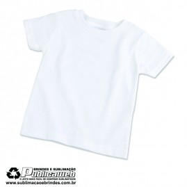 Camiseta 100% Poliéster Infantil Tamanho 2